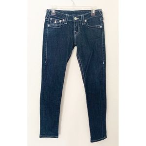 True Religion Dark Wash Size 27 Skinny Jeans